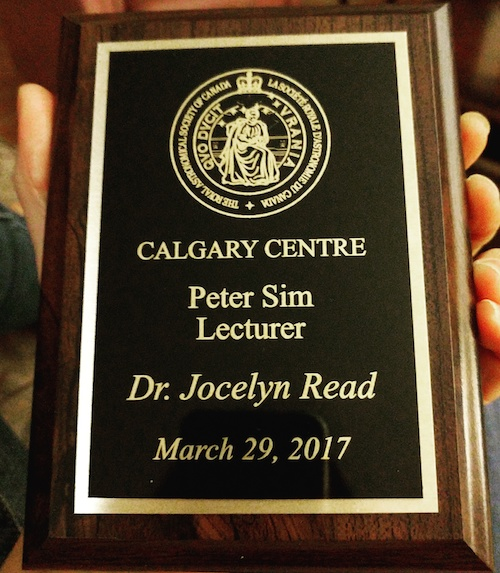 2017 jocelyn calgary plaque