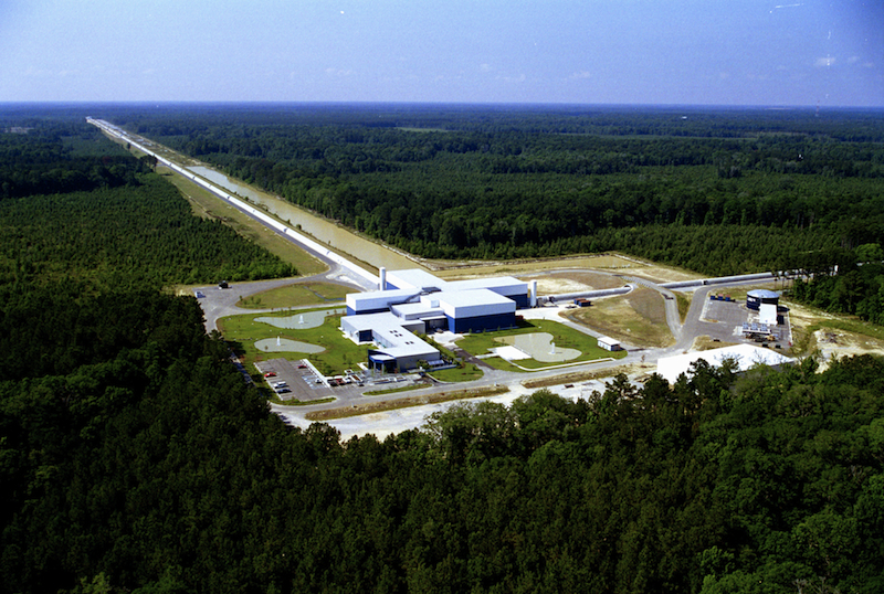 A picture of the gravitational-wave detector in Livingston, Louisiana.