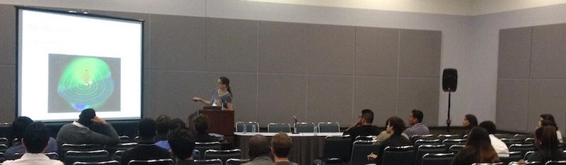 Jocelyn Read presents a talk on neutron star astrophysics at SACNAS 2014.