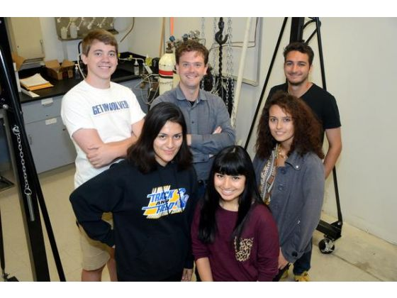 Professor Leigh Hargreaves and his research group