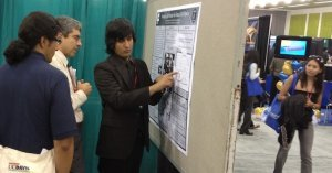 Fabian at his poster