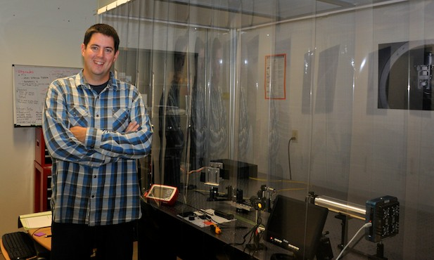 Josh Smith in his lab in Dan Black Hall