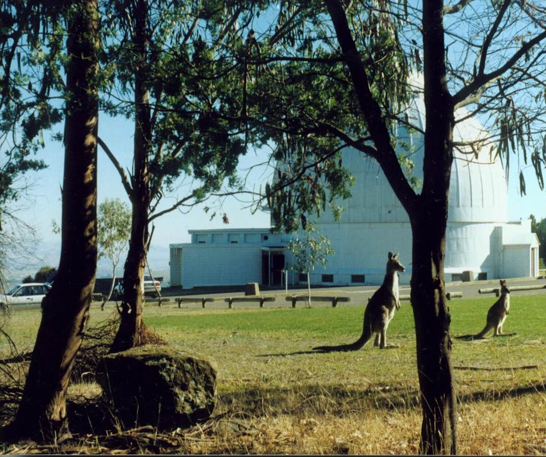 One of Pat's hangouts: Mt Stromlo Observatory in Australia